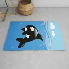 Orca, Cute Killer Whale Rug
