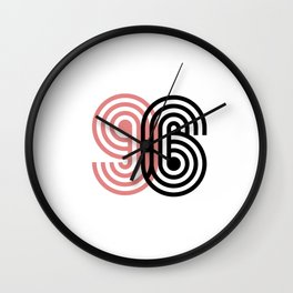 96 lucky number Wall Clock