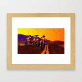 Rolling Muertos Framed Art Print