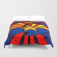 arizona Duvet Covers featuring Arizona by Wired Circuit