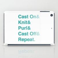 helvetica iPad Cases featuring Knitting - Helvetica Ampersand Style by Corrie Jacobs