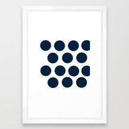 CircleCircle Framed Art Print