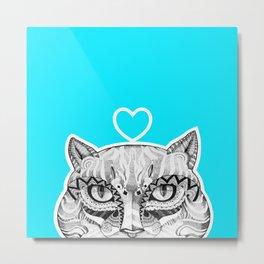 Cat B Metal Print