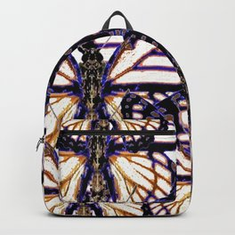 B&W  CONTEMPORARY MONARCH BUTTERFLY ABSTRACT Backpack