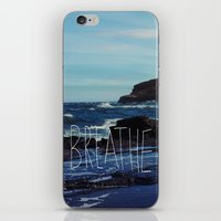 breathe iPhone & iPod Skins featuring Breathe by Leah Flores