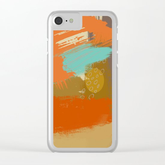 Secret Places, Abstract Landscape Art Clear iPhone Case