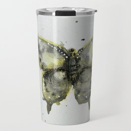 Yellow and Gray Butterfly Travel Mug