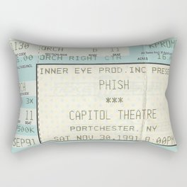Concert Ticket Stub - Phish Capitol Theatre Rectangular Pillow