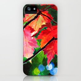 Dawn through the Maples iPhone Case