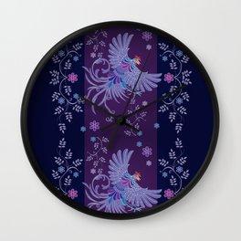 Batik or textile designs Wall Clock