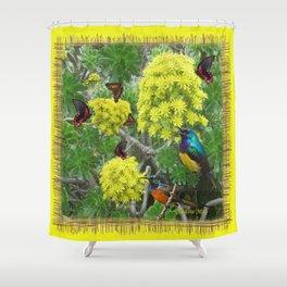 Aeonium succulents in flower Shower Curtain