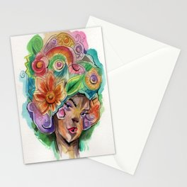 flowers on her mind Stationery Cards