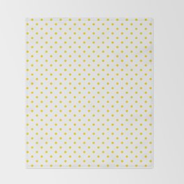 Dots (Gold/White) Throw Blanket