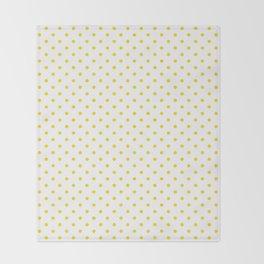 Dots (Gold/White) Throw Blanket