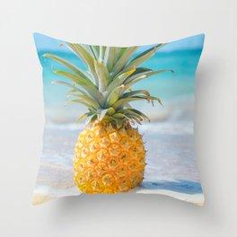 Aloha Pineapple Beach Kanahā Maui Hawaii Throw Pillow