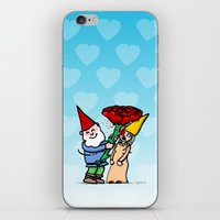 gnome iPhone & iPod Skins featuring Gnome Love by Stephan Brusche