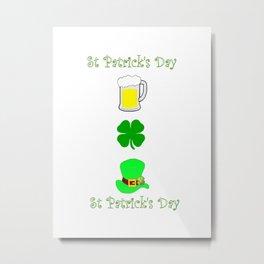 St Patricks Day Symbols Metal Print