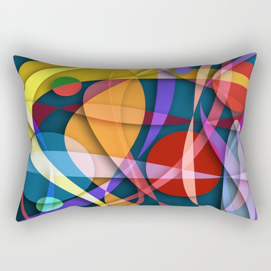 Abstract #358 Rectangular Pillow