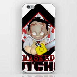 leather face iPhone Skin
