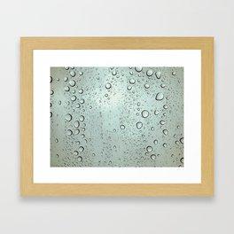 Waterdrops on a Window Framed Art Print