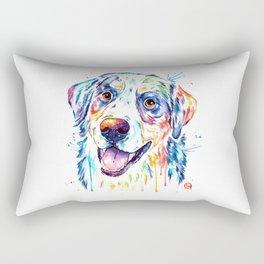 Bernese Mountain Dog Watercolor Painting Rectangular Pillow