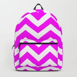 Magenta (Crayola) - pink color - Zigzag Chevron Pattern Backpack