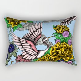 Cranes (Yellow) Rectangular Pillow
