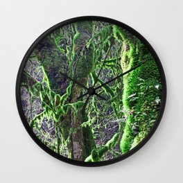 RAIN FOREST MAPLES IN SPRING 2 Wall Clock