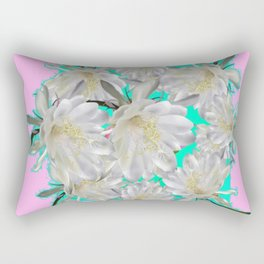 NIGHT BLOOMING TROPICAL CEREUS CACTI ART Rectangular Pillow