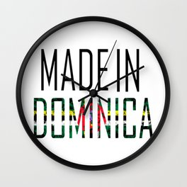 Made In Dominica Wall Clock