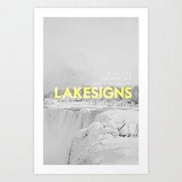 Lakesigns Poster - Darkroom, 2.16.2012 Art Print