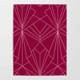 Art Deco in Raspberry Pink - Large Scale Poster