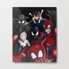 Spider-Snap Metal Print