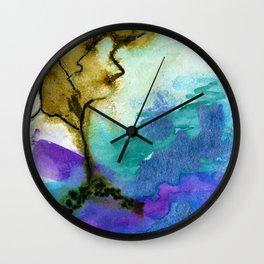 Galapagos Sandscape #Abstract #Watercolors Wall Clock