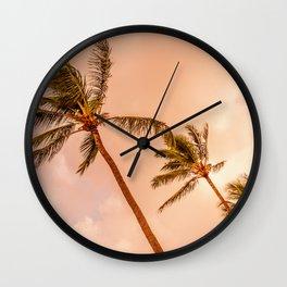 Palms Away - Maui 1 Wall Clock
