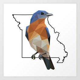 Missouri – Eastern Bluebird Art Print