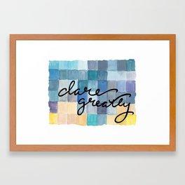 Dare Greatly Block Print Framed Art Print