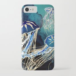 Metallic Jellyfish III iPhone Case