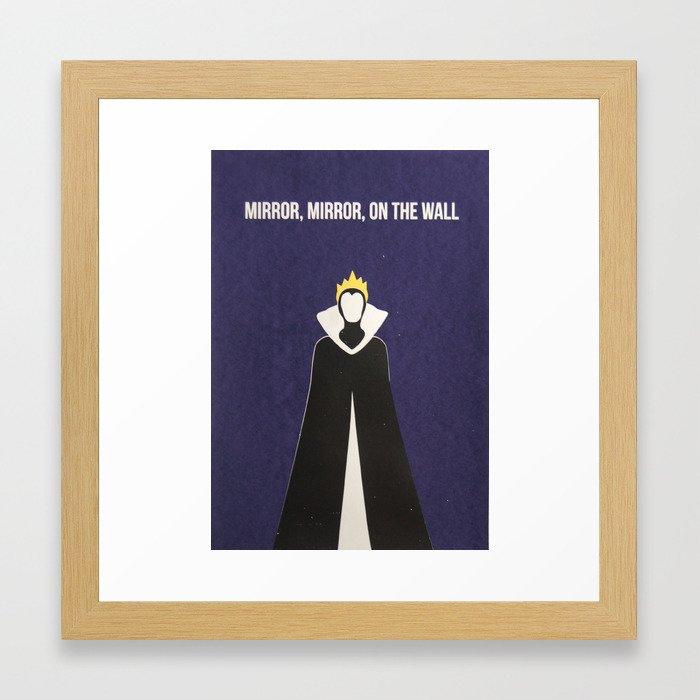 Disney Villain - Evil Queen Framed Art Print by tessasimpson   Society6