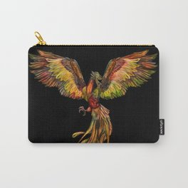 Phoenix Rising - on black Carry-All Pouch