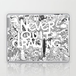 Doddle | Never Quit Drawing Laptop & iPad Skin