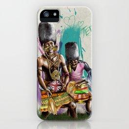 "African+British ""Tribal Celebration"" iPhone Case"