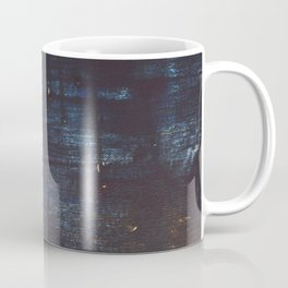 Delight [2]: a vibrant minimal abstract painting in blue and coral by Alyssa Hamilton Art Coffee Mug
