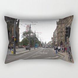 Buses along Princes Street Edinburgh Rectangular Pillow