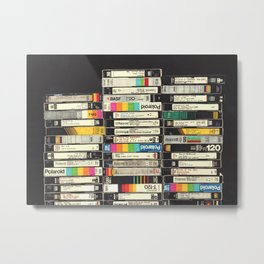 VHS Stack Metal Print