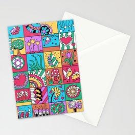 Inchie Doodle Design - Blue Red - Spring Stationery Cards
