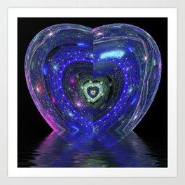 Magic Blue Heart Art Print