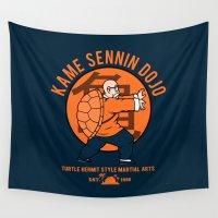 dbz Wall Tapestries featuring Kame Dojo by Pigboom Art