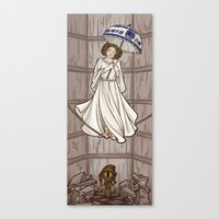 hallion Canvas Prints featuring Leia's Corruptible Mortal State by Karen Hallion Illustrations