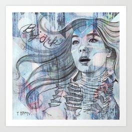 Bjork - I'm A Whisper In Water Art Print